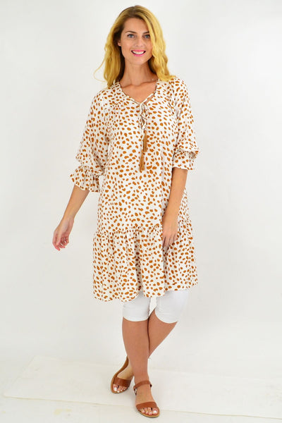 White Spot Dandelion Tunic Dress