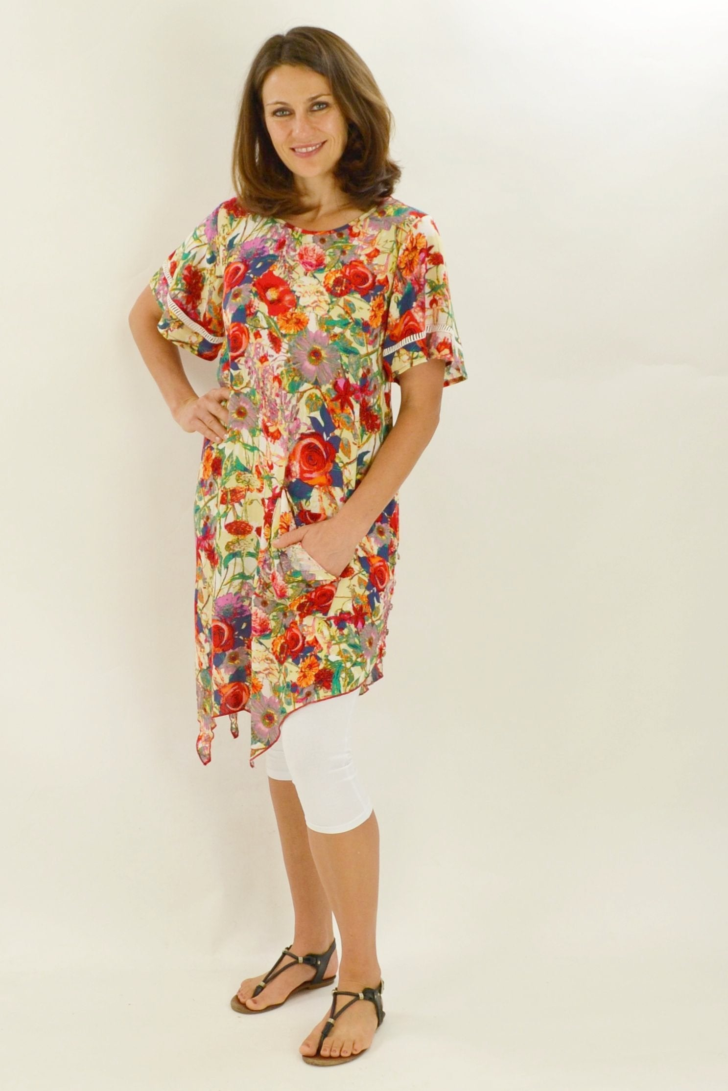 Frans Floral Pocket Tunic | I Love Tunics | Tunic Tops | Tunic | Tunic Dresses  | womens clothing online