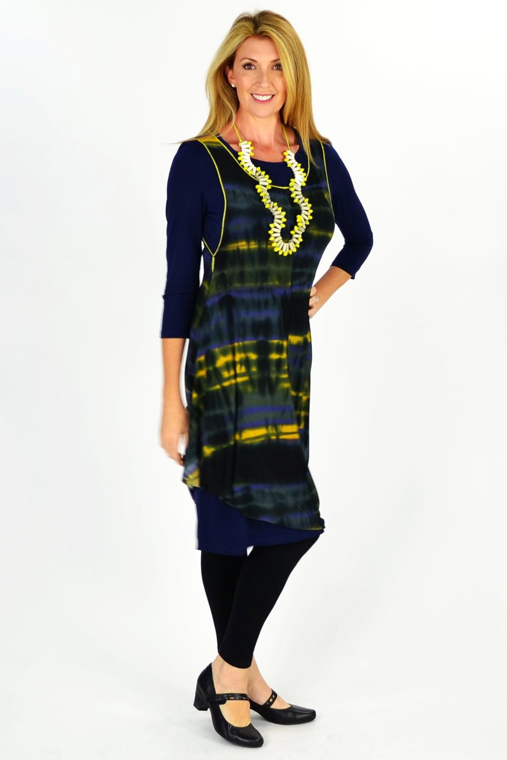 Navy Maggie Tunic - at I Love Tunics @ www.ilovetunics.com = Number One! Tunics Destination