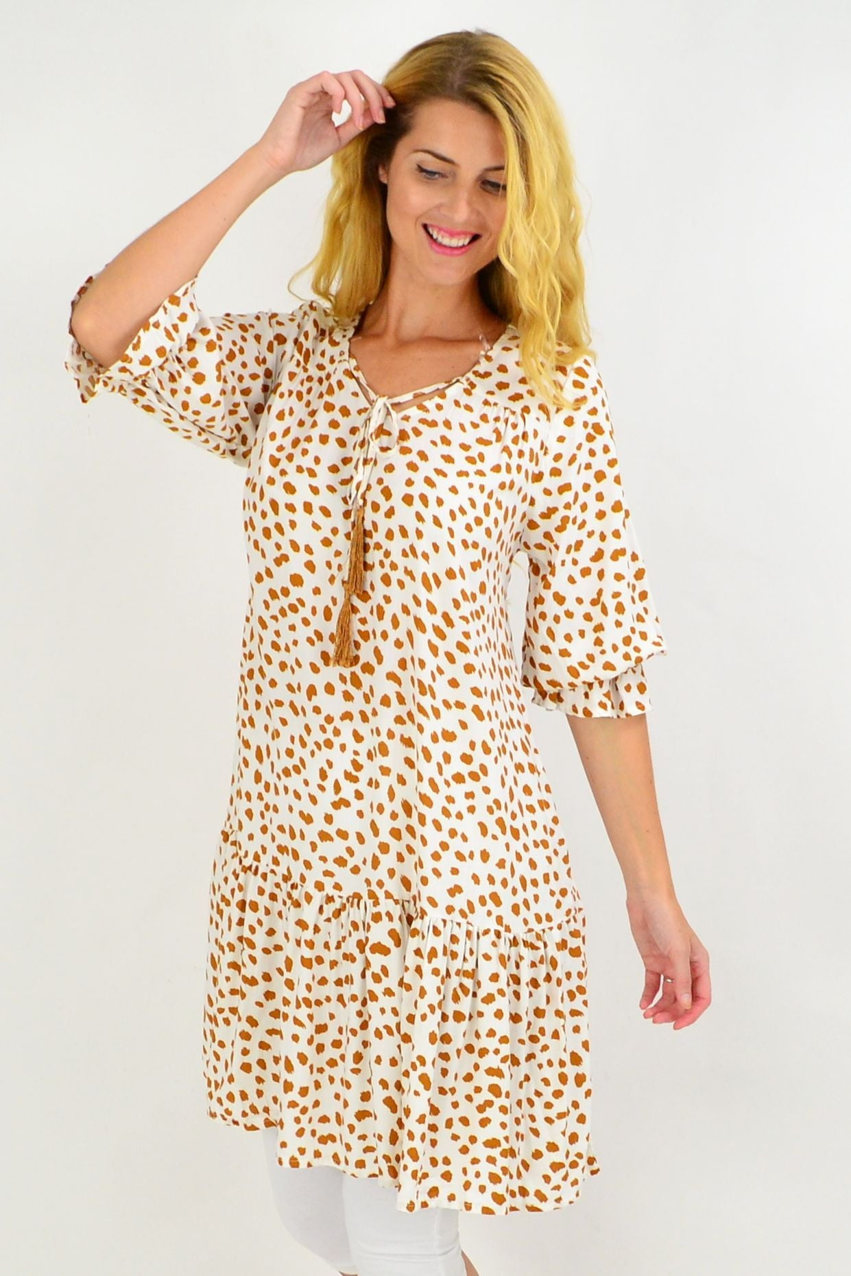 White Spot Dandelion Tunic Dress | I Love Tunics | Tunic Tops | Tunic | Tunic Dresses  | womens clothing online