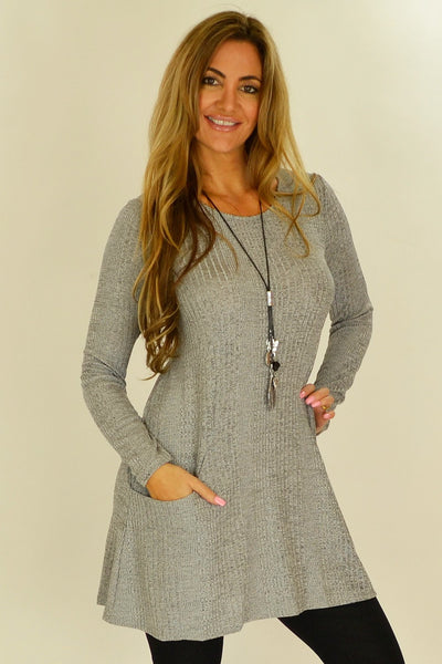 Grey Lucy Line Tunic - at I Love Tunics @ www.ilovetunics.com = Number One! Tunics Destination