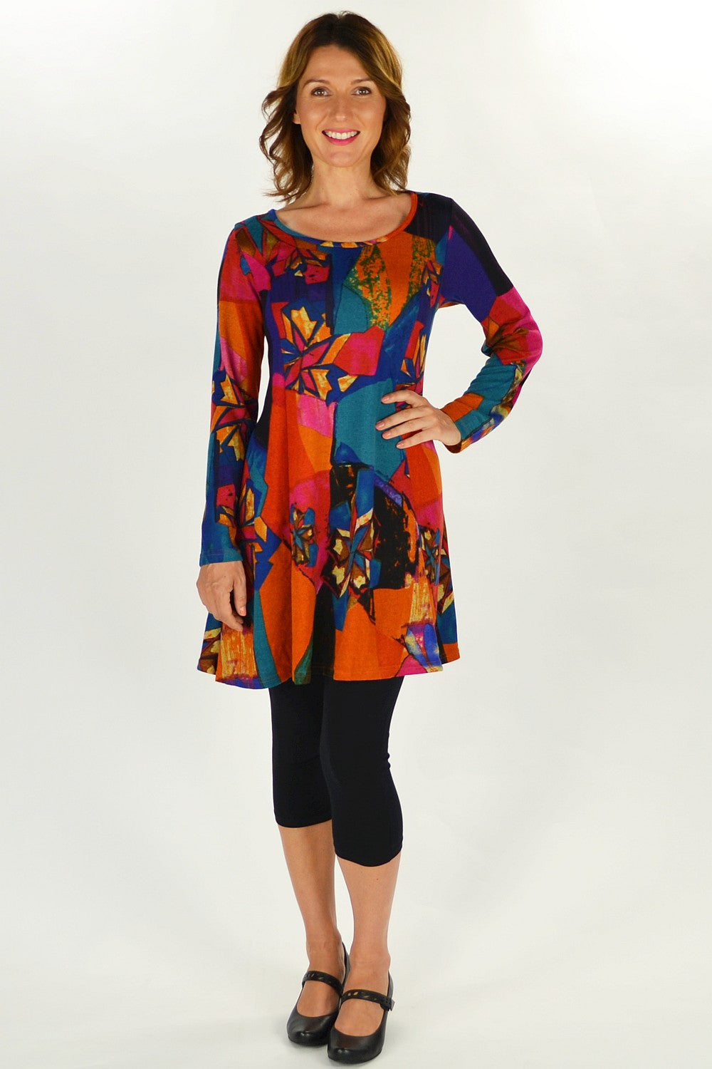 Stain Glass Tunic - at I Love Tunics @ www.ilovetunics.com = Number One! Tunics Destination