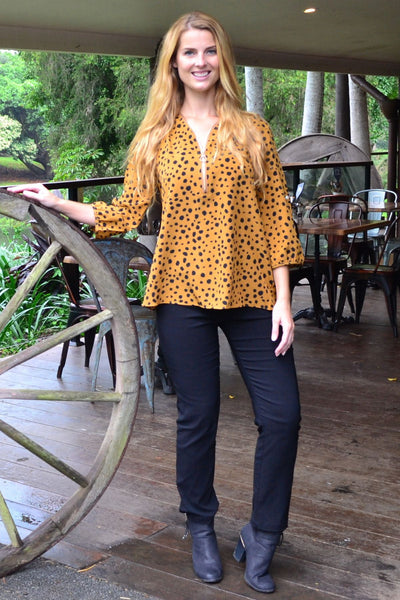 Black Spot Amelia Tunic | I Love Tunics | Tunic Tops | Tunic Dresses | Women's Tops | Plus Size Australia | Mature Fashion