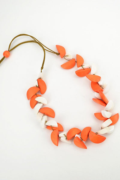 Orange and White Necklace | I Love Tunics | Tunic Tops | Tunic | Tunic Dresses  | womens clothing online