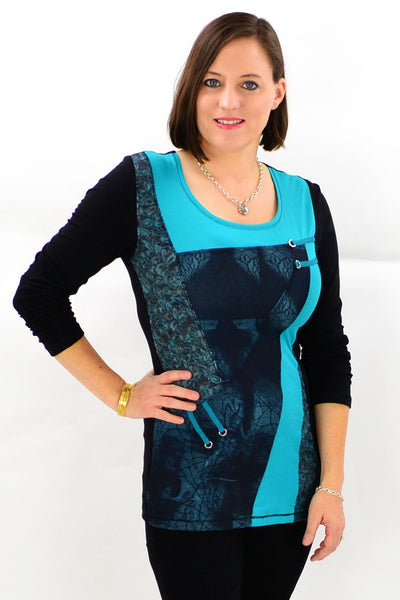 Aqua Avery Winter Tunic Top | I Love Tunics | Tunic Tops | Tunic Dresses | Women's Tops | Plus Size Australia | Mature Fashion