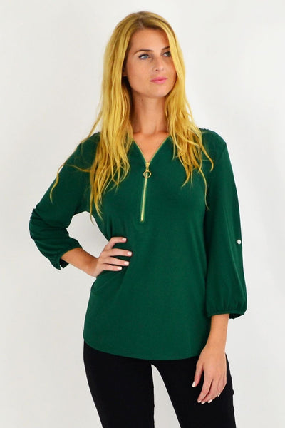 Green Amelia Tunic | I Love Tunics | Tunic Tops | Tunic Dresses | Women's Tops | Plus Size Australia | Mature Fashion