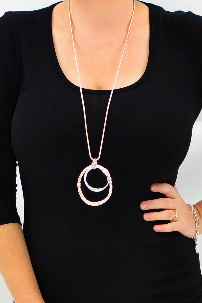Double Hoop Necklace | I Love Tunics | Tunic Tops | Tunic Dresses | Women's Tops | Plus Size Australia | Mature Fashion