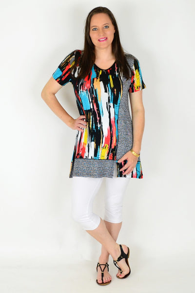 Line Up Tunic Top
