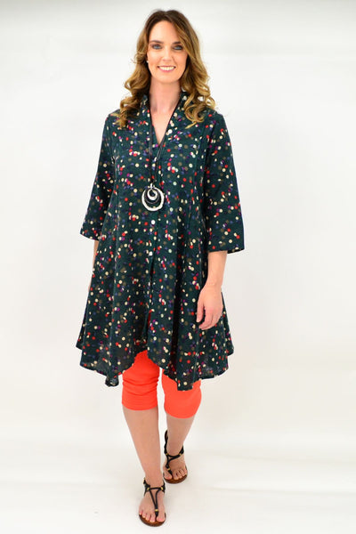 Green Amaya Tunic Top