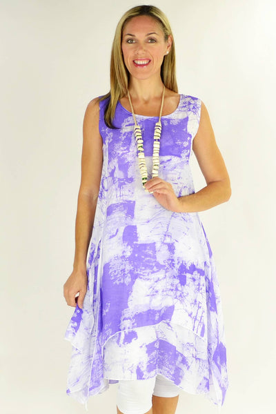 Purple Mandy Tunic - at I Love Tunics @ www.ilovetunics.com = Number One! Tunics Destination