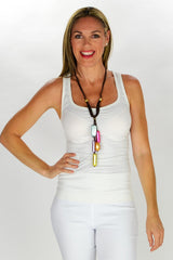 Long Pendant Foil Necklace - at I Love Tunics @ www.ilovetunics.com = Number One! Tunics Destination
