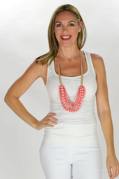 Multilayer Soft Pink Necklace
