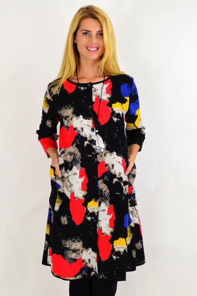 Colourful Paint Splash Shirt Dress | I Love Tunics | Tunic Tops | Tunic | Tunic Dresses  | womens clothing online