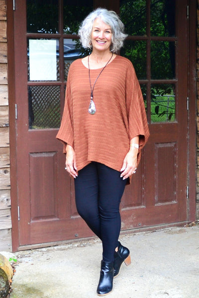 Mandy Tan Textured Knit Tunic | I Love Tunics | Tunic Tops | Tunic Dresses | Women's Tops | Plus Size Australia | Mature Fashion