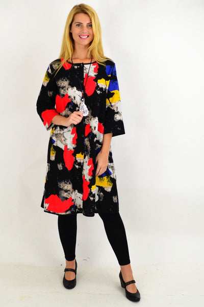 Colourful Paint Splash Shirt Dress
