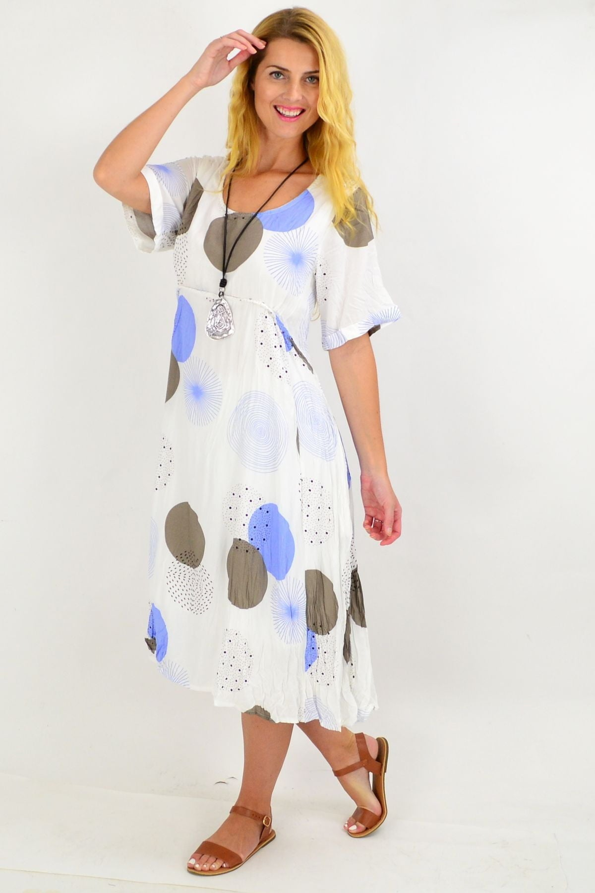 Blue Star Spot Tunic dress