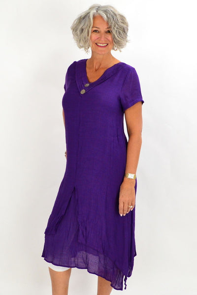 Purple Coconut Overlay Tunic Dress