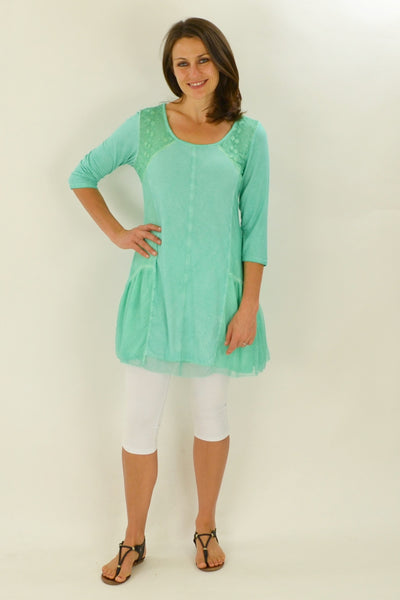 Annie's Aqua Tunic Top | I Love Tunics | Tunic Tops | Tunic | Tunic Dresses  | womens clothing online
