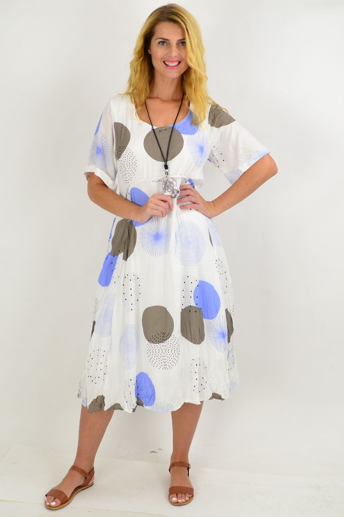 Blue Star Spot Tunic dress | I Love Tunics | Tunic Tops | Tunic | Tunic Dresses  | womens clothing online