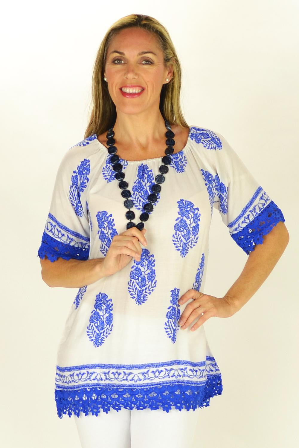 Mykonos Tunic - at I Love Tunics @ www.ilovetunics.com = Number One! Tunics Destination