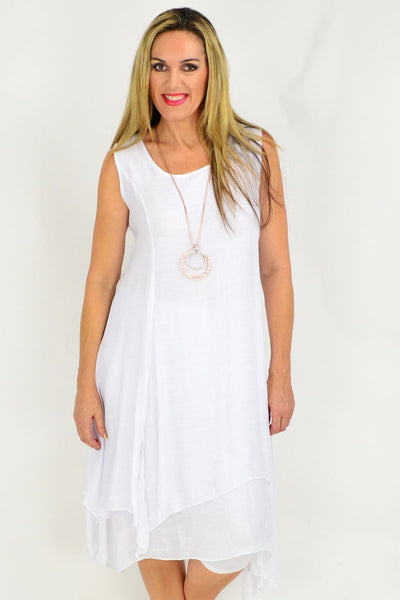 long white cotton dresss