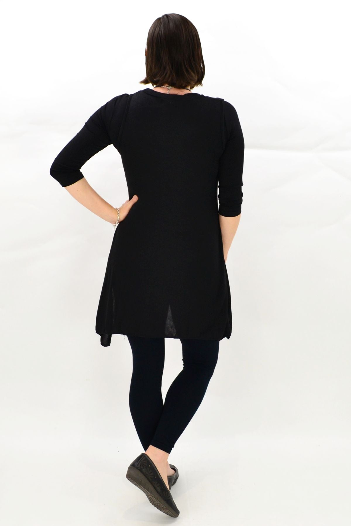 Sleeveless Black Layla Winter Tunic Top