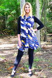 Blue Renee Sleeveless Swing Tunic Vest | I Love Tunics | Tunic Tops | Tunic | Tunic Dresses  | womens clothing online