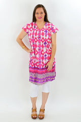 Pink Cotton Dress - at I Love Tunics @ www.ilovetunics.com = Number One! Tunics Destination