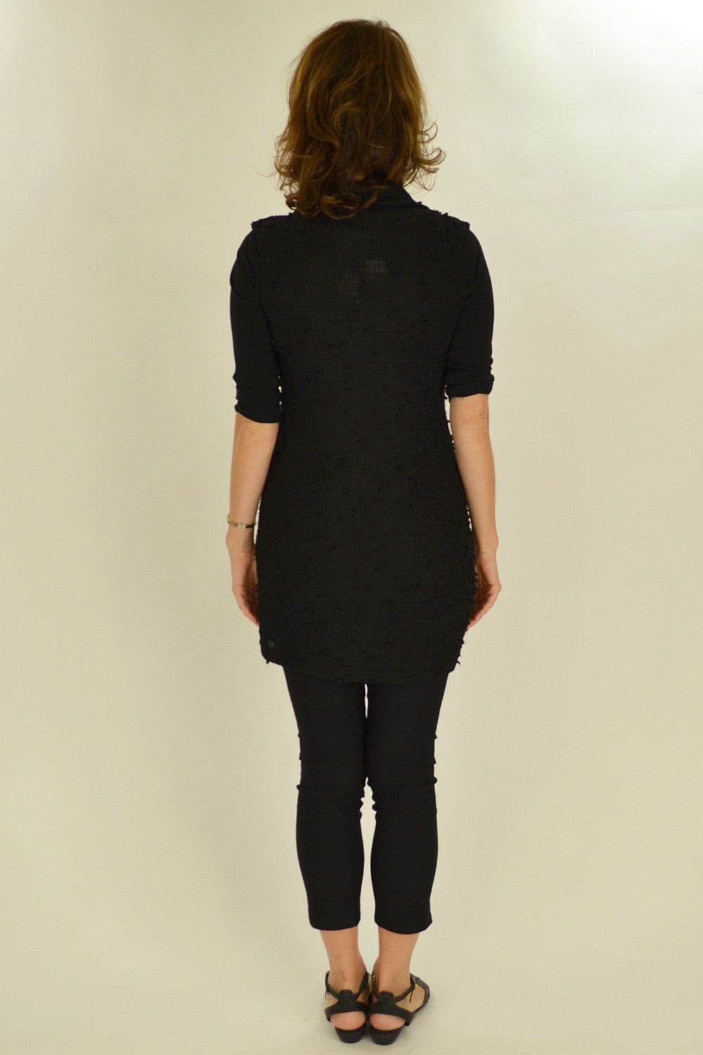 Black Knit Mia Tunic - at I Love Tunics @ www.ilovetunics.com = Number One! Tunics Destination