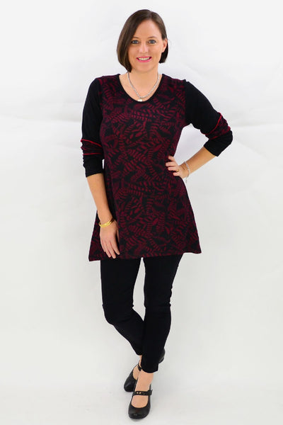 Black wide band 7/8 Pants | I Love Tunics | Tunic Tops | Tunic Dresses | Women's Tops | Plus Size Australia | Mature Fashion