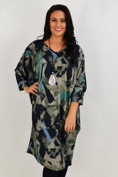 Aqua Oversized Tunic Dress | I Love Tunics | Tunic Tops | Tunic | Tunic Dresses  | womens clothing online