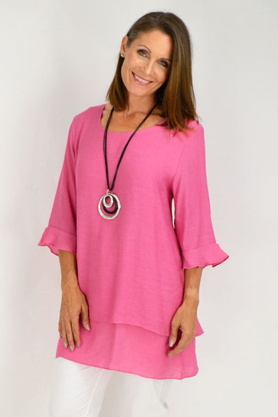 Pink Peppers Cross over Tunic Blouse | I Love Tunics | Tunic Tops | Tunic | Tunic Dresses  | womens clothing online