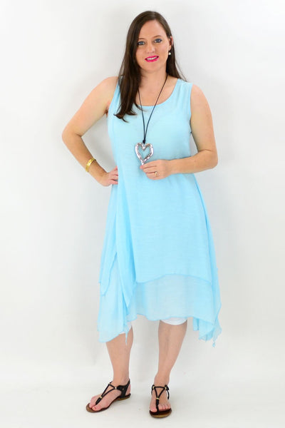 Sky Blue Maui Tunic Dress