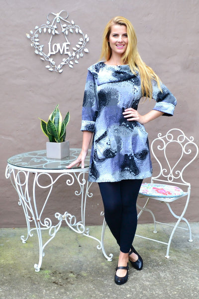 Grey Oversized Collar Tunic Top | I Love Tunics | Tunic Tops | Tunic | Tunic Dresses  | womens clothing online
