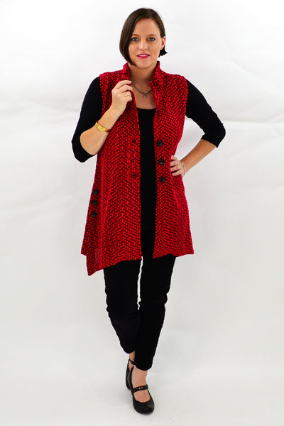 Red Petra Tunic Vest