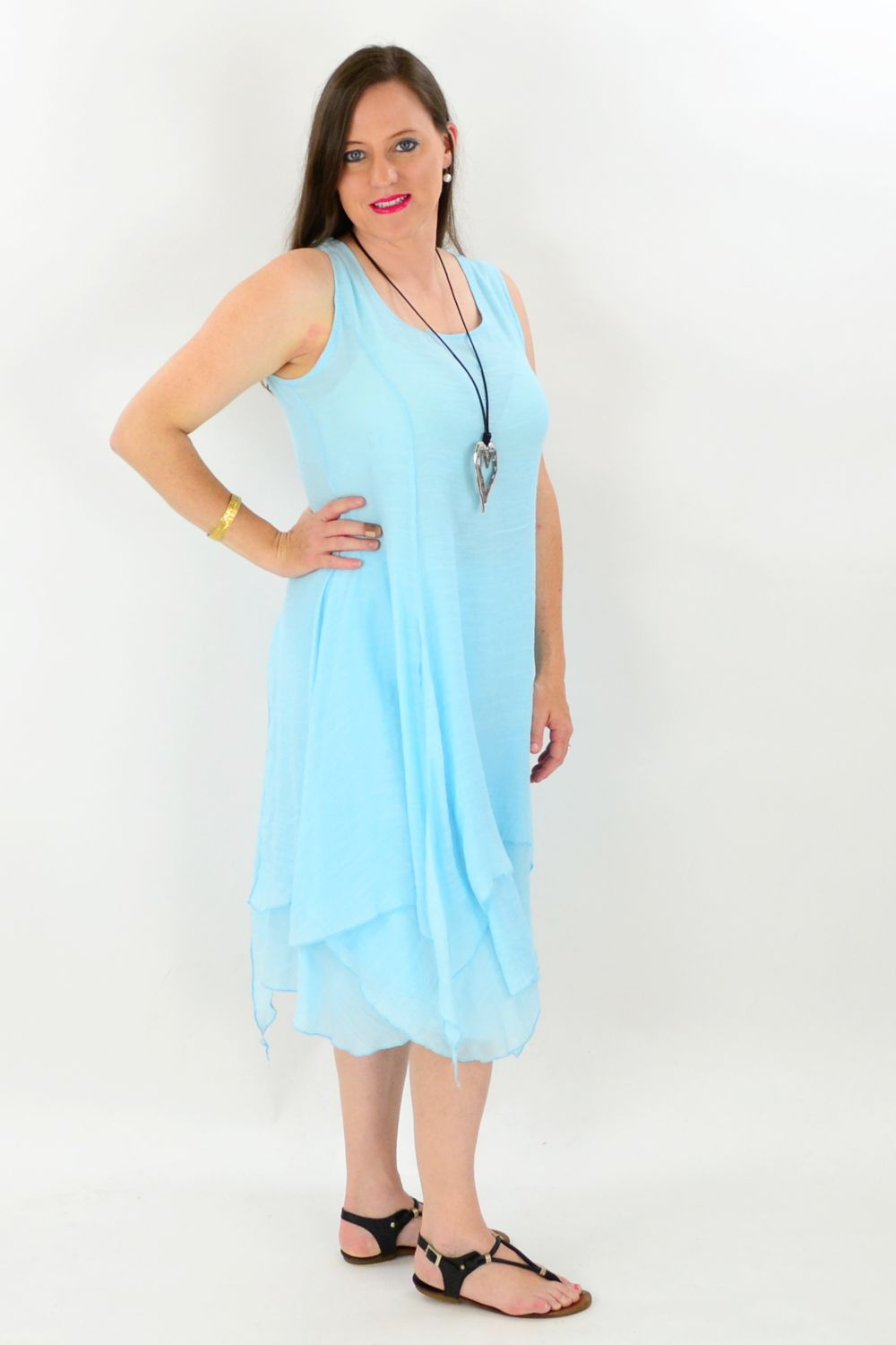 Sky Blue Maui Tunic Dress - at I Love Tunics @ www.ilovetunics.com = Number One! Tunics Destination