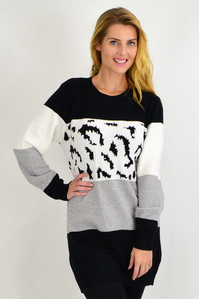 Black Woolly Winter Tunic Jumper - I Love Tunics