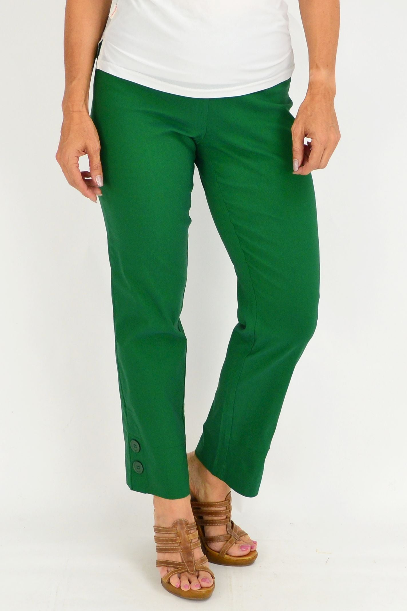 Green 2 Button Clarity Pants