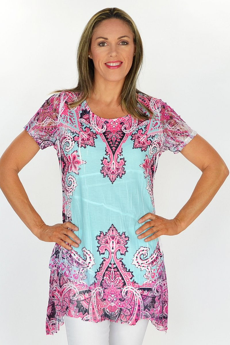 Zaras Paisley Tunic | I Love Tunics | Tunic Tops | Tunic | Tunic Dresses  | womens clothing online