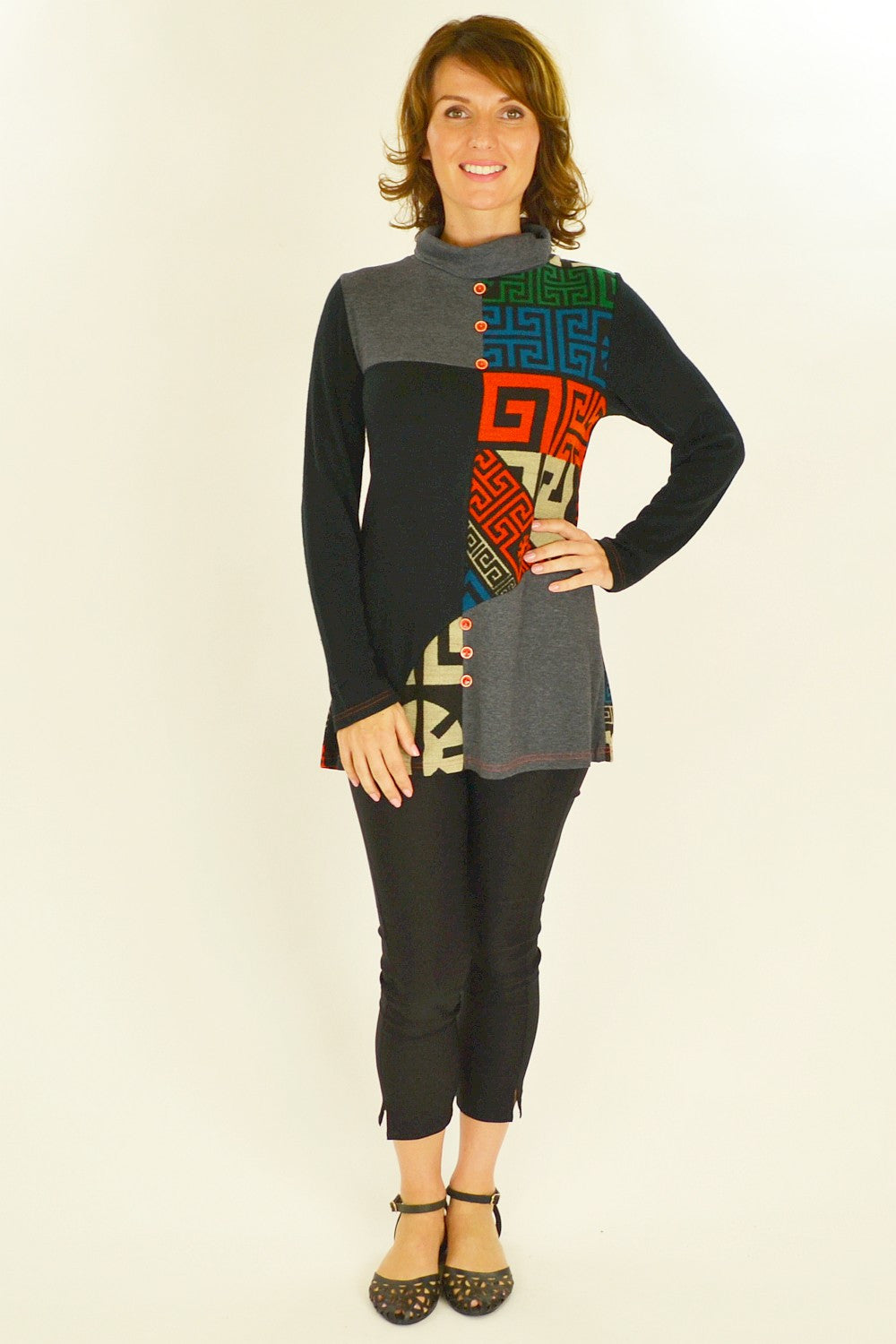 Orange Aztec Tunic - at I Love Tunics @ www.ilovetunics.com = Number One! Tunics Destination