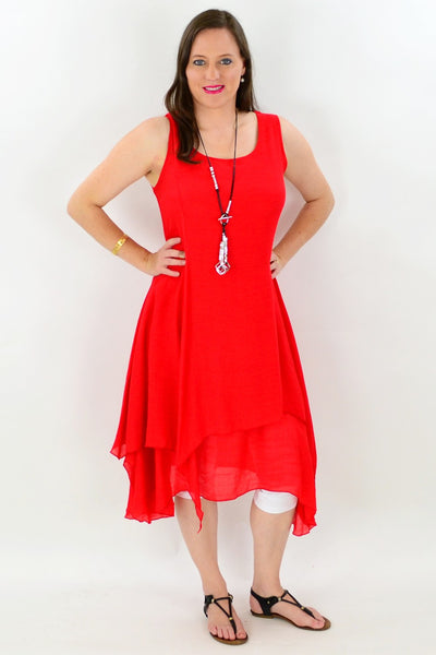 Red Maui Tunic Dress