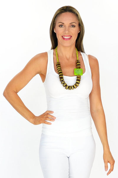 Chunky Green Tribal Necklace