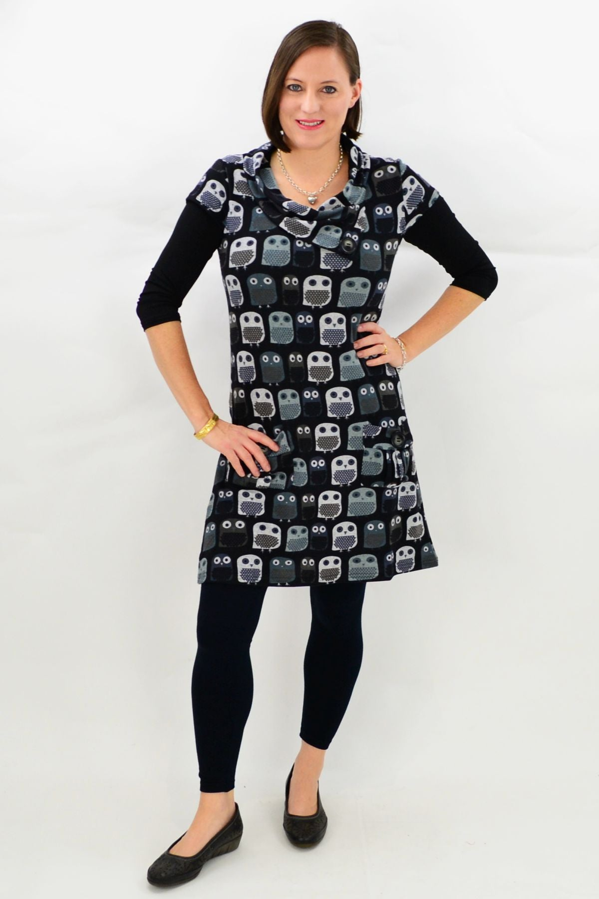 Owl Winter Tunic Top
