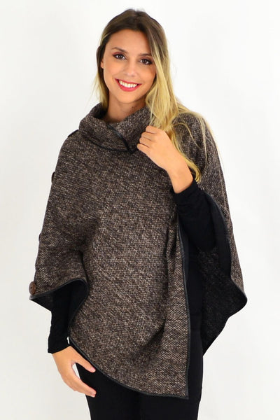 Chocolate Brown Jessie Knit Tunic poncho | I Love Tunics | Tunic Tops | Tunic | Tunic Dresses  | womens clothing online