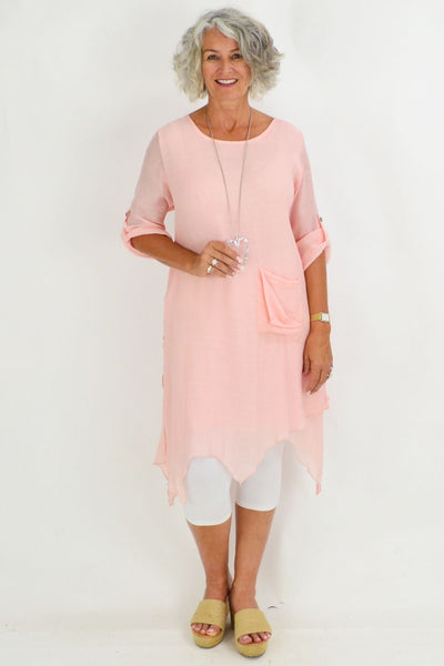 Light Pink Nora Long Tunic Top