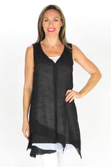 Black 2 in 1 Tunic | I Love Tunics | Tunic Tops | Tunic Dresses | Women's Tops | Plus Size Australia | Mature Fashion