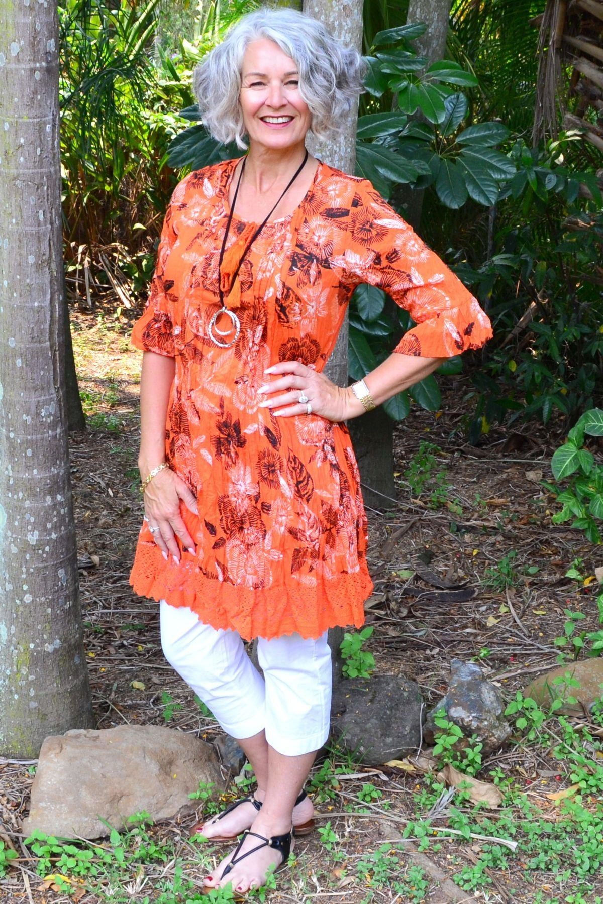 Orange Tahiti Tunic Dress | I Love Tunics | Tunic Tops | Tunic | Tunic Dresses  | womens clothing online