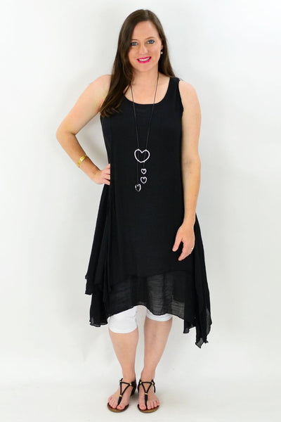 Black Maui Tunic Dress