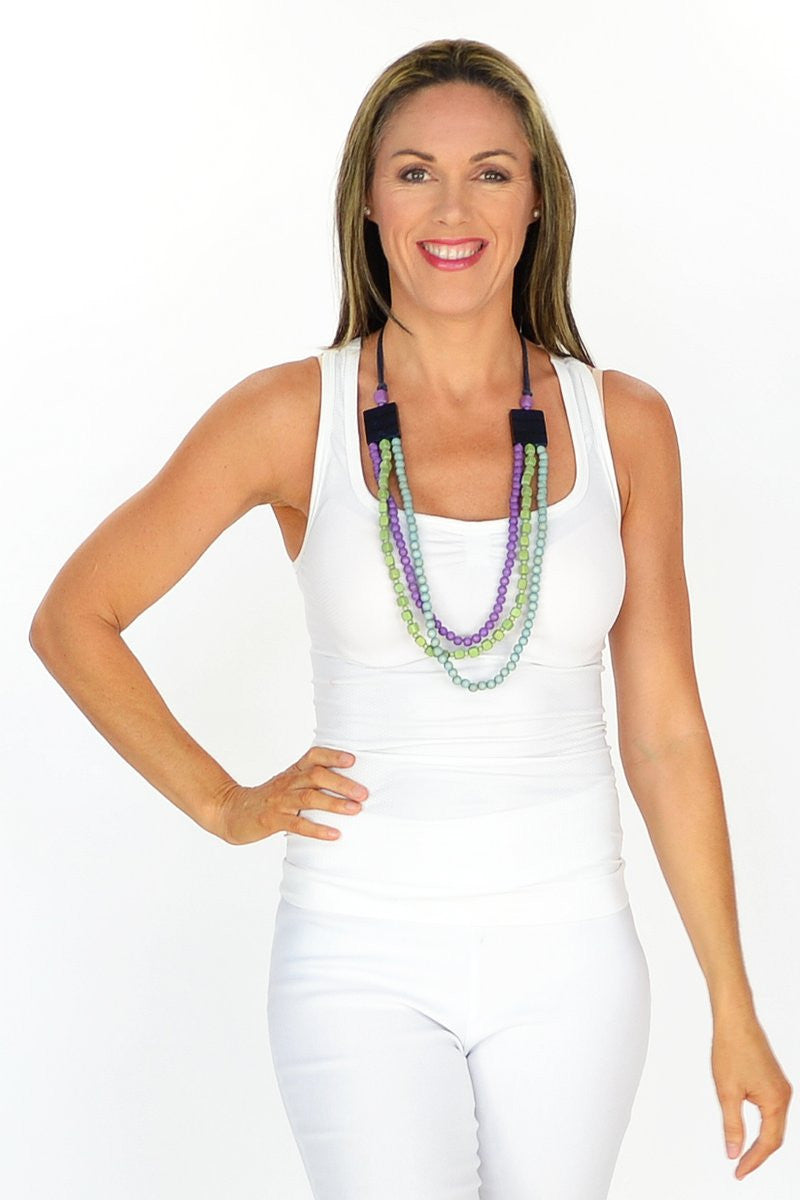 Purple and Green Necklace - at I Love Tunics @ www.ilovetunics.com = Number One! Tunics Destination