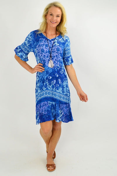 Ocean Blue Tunic Dress - I Love Tunics